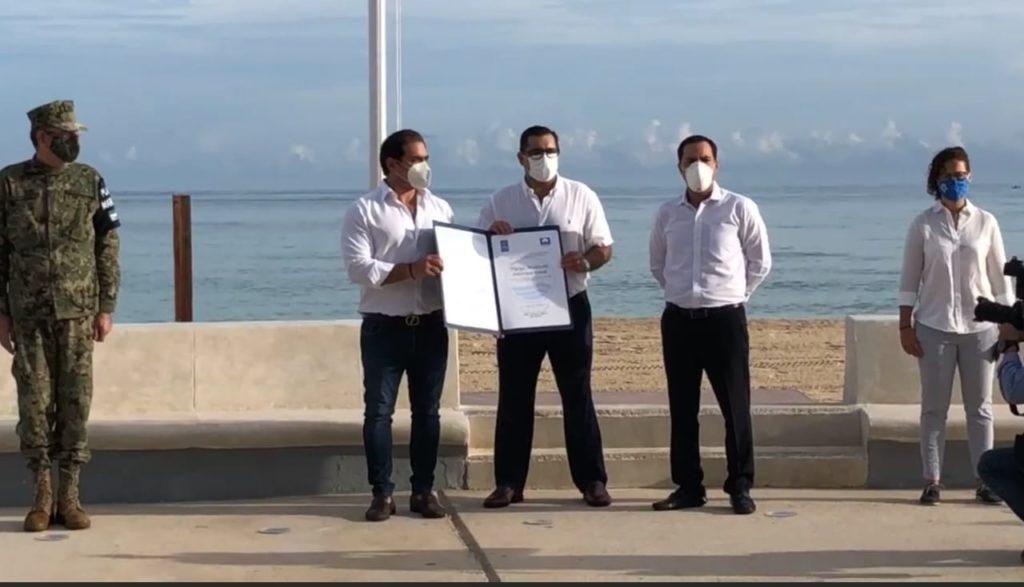 Playas de Progreso reciben el dintintivo Blue Flag